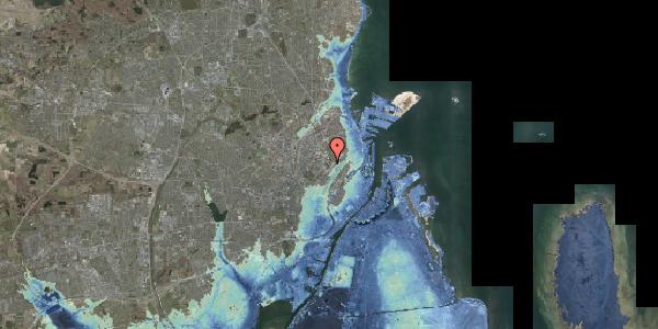Stomflod og havvand på Juliane Maries Vej 7, 2100 København Ø