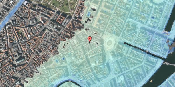 Stomflod og havvand på Pistolstræde 3, 1102 København K