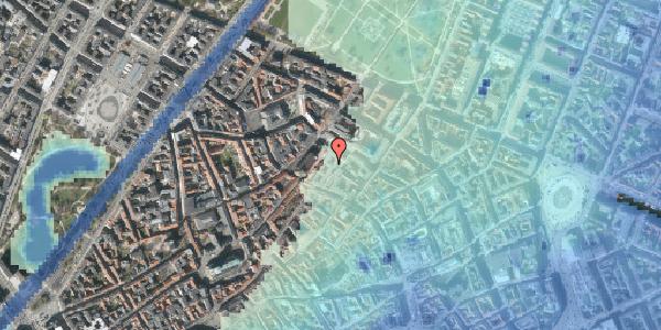 Stomflod og havvand på Købmagergade 50C, 1150 København K