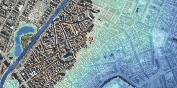 Stomflod og havvand på Niels Hemmingsens Gade 34, 1153 København K