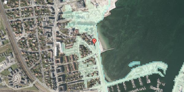Stomflod og havvand på Strandpromenaden 45, 2100 København Ø