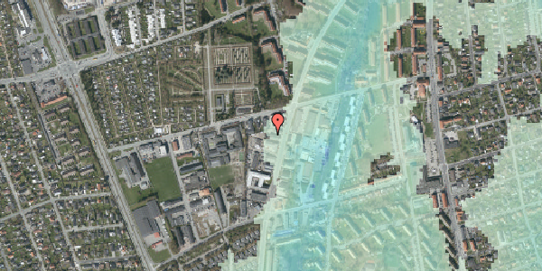 Stomflod og havvand på Arnold Nielsens Boulevard 62C, 2650 Hvidovre