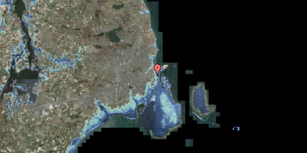 Stomflod og havvand på Øster Allé 1C, 2100 København Ø