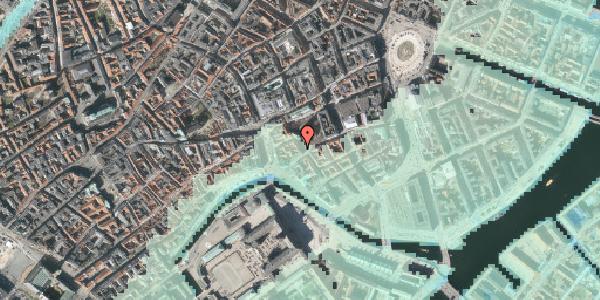 Stomflod og havvand på Nikolaj Plads 32, kl. , 1067 København K