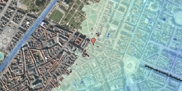 Stomflod og havvand på Christian IX's Gade 7, 1. , 1111 København K