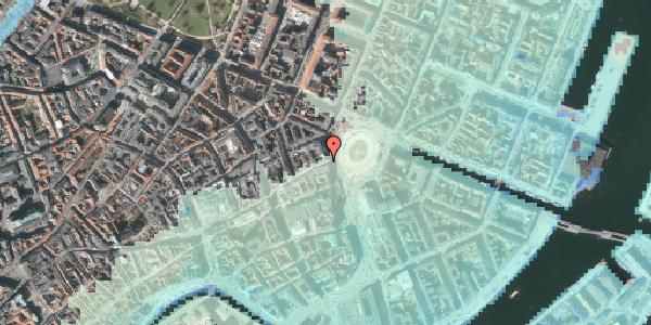 Stomflod og havvand på Østergade 2A, kl. , 1100 København K