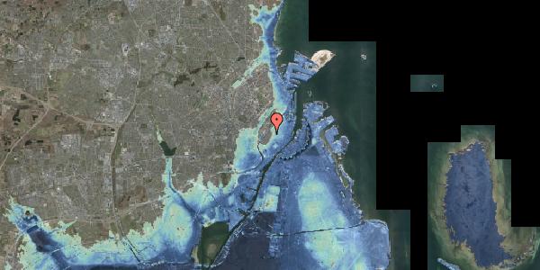 Stomflod og havvand på Købmagergade 65A, 1150 København K