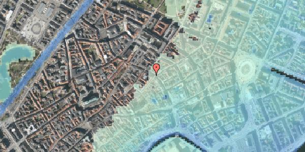 Stomflod og havvand på Købmagergade 33, 1150 København K