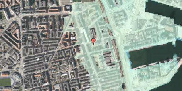 Stomflod og havvand på Århusgade 102, 2100 København Ø