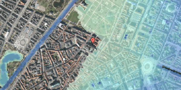 Stomflod og havvand på Vognmagergade 9, 2. tv, 1120 København K