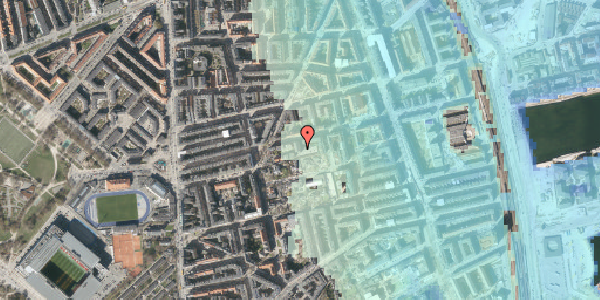 Stomflod og havvand på Viborggade 70C, 2100 København Ø