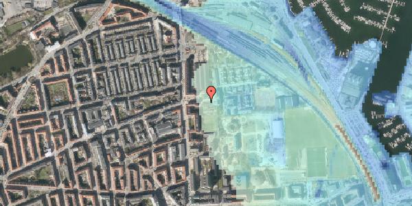 Stomflod og havvand på Carl Nielsens Allé 12, 2100 København Ø