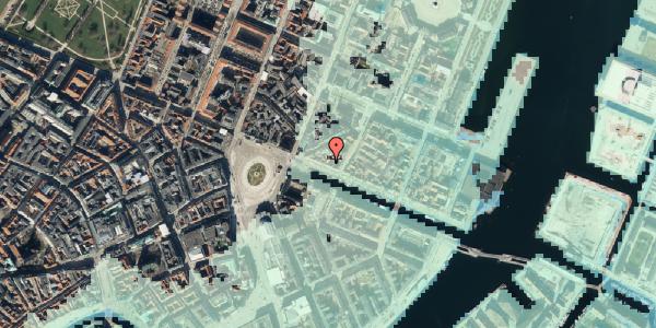 Stomflod og havvand på Nyhavn 11A, 3. mf, 1051 København K