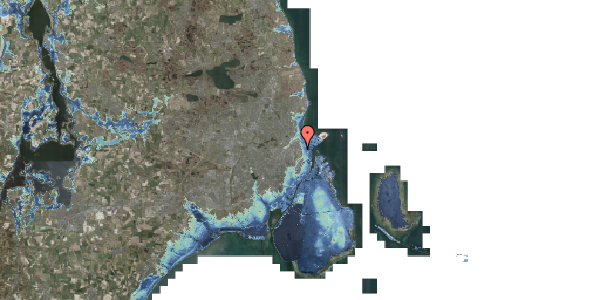 Stomflod og havvand på Østerfælled Torv 26, 2100 København Ø