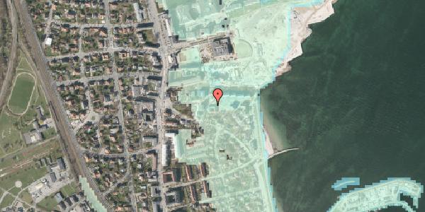 Stomflod og havvand på Scherfigsvej 10, 2100 København Ø