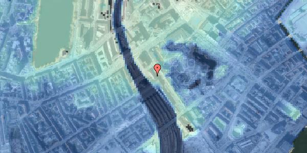 Stomflod og havvand på Bernstorffsgade 14, 1. , 1577 København V