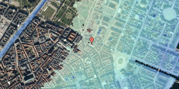 Stomflod og havvand på Ny Østergade 30, 1101 København K
