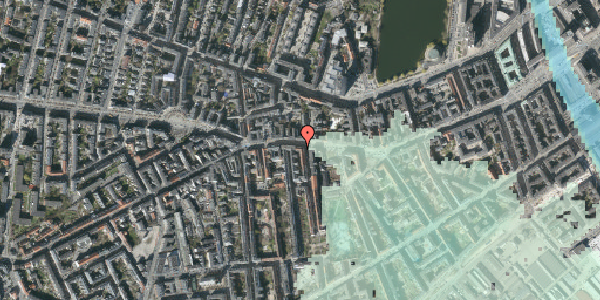 Stomflod og havvand på Vesterbrogade 63, kl. tv, 1620 København V
