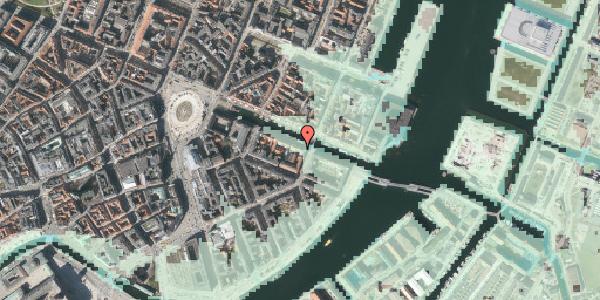 Stomflod og havvand på Nyhavn 22, 1051 København K