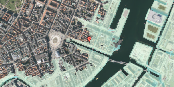 Stomflod og havvand på Nyhavn 37, kl. 1, 1051 København K