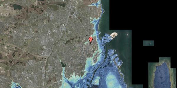 Stomflod og havvand på Emblasgade 141, 2100 København Ø