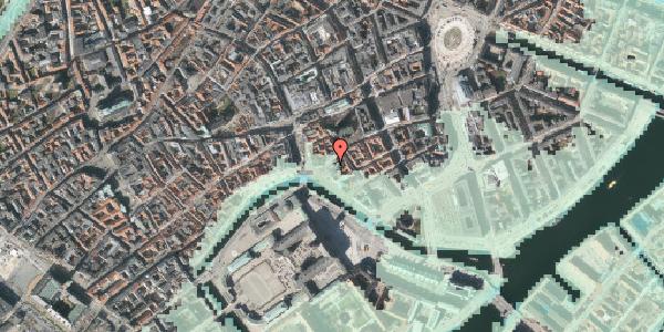 Stomflod og havvand på Fortunstræde 7, 1065 København K