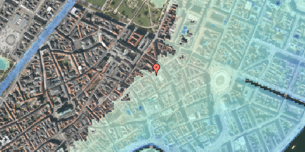 Stomflod og havvand på Pilestræde 36, st. , 1112 København K