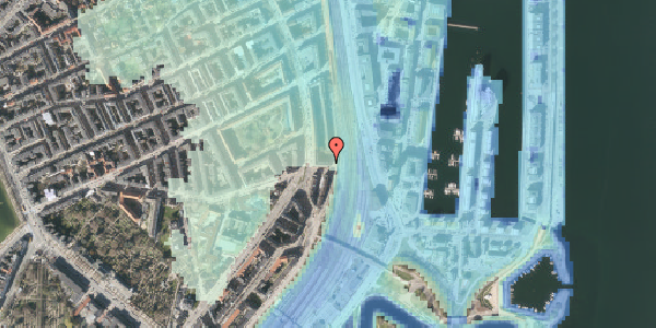 Stomflod og havvand på Østbanegade 31, 2100 København Ø