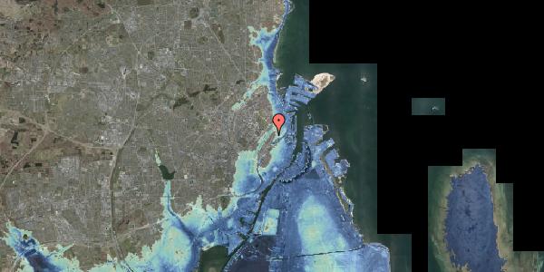 Stomflod og havvand på Voldmestergade 1, 2100 København Ø