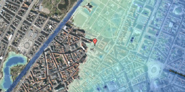 Stomflod og havvand på Vognmagergade 11, st. th, 1120 København K