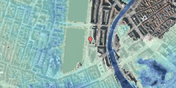 Stomflod og havvand på Vester Søgade 12, 1601 København V