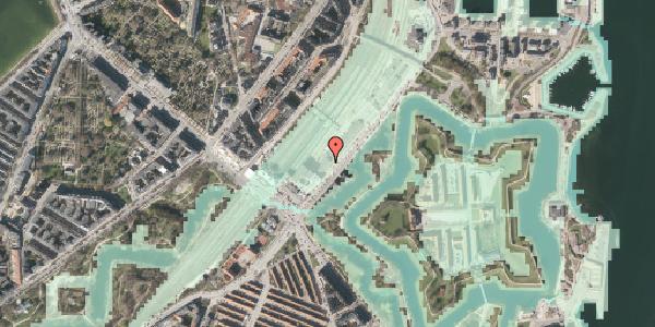 Stomflod og havvand på Folke Bernadottes Allé 5, 2100 København Ø