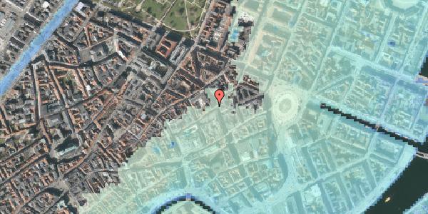 Stomflod og havvand på Gammel Mønt 1, 1117 København K