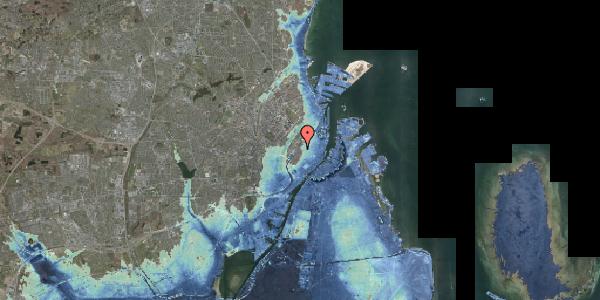 Stomflod og havvand på Rosenborggade 17, 1130 København K