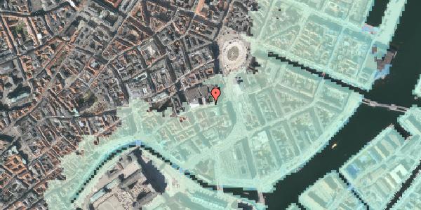 Stomflod og havvand på Vingårdstræde 4, 1070 København K