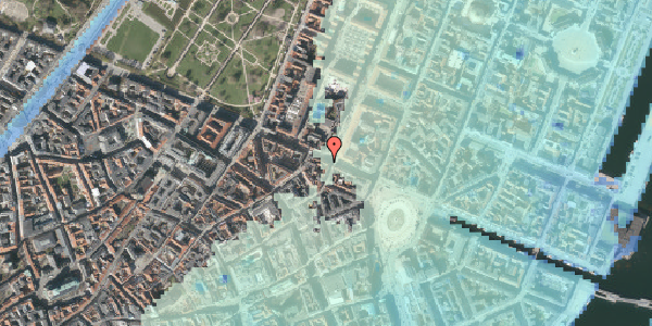 Stomflod og havvand på Gothersgade 21D, st. , 1123 København K