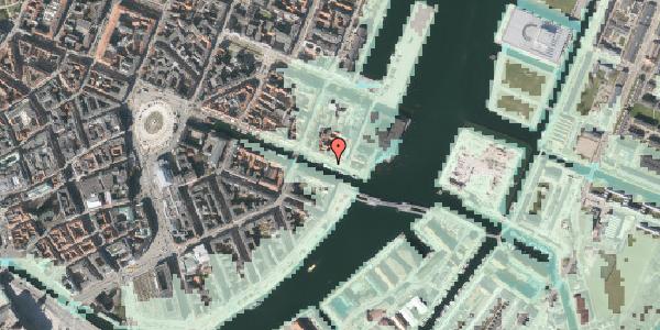 Stomflod og havvand på Nyhavn 65A, 1051 København K