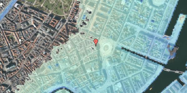 Stomflod og havvand på Hovedvagtsgade 3, 1103 København K