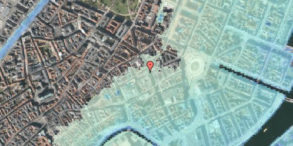 Stomflod og havvand på Pilestræde 14E, 1112 København K