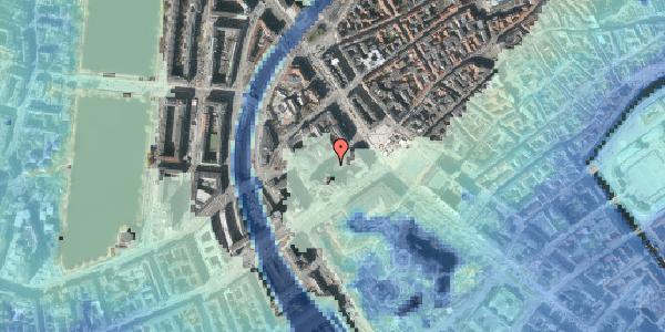 Stomflod og havvand på Jernbanegade 5, 1608 København V