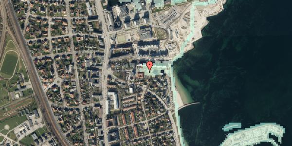 Stomflod og havvand på Scherfigsvej 12, 2100 København Ø