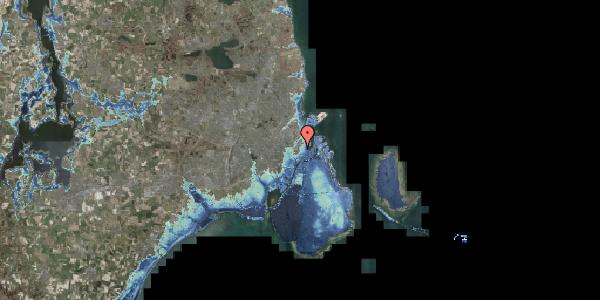 Stomflod og havvand på Suhmsgade 1, 1125 København K