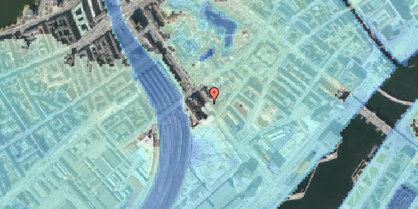 Stomflod og havvand på Bernstorffsgade 17, 3. , 1577 København V