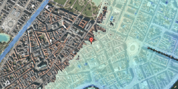 Stomflod og havvand på Pilestræde 37, 1112 København K