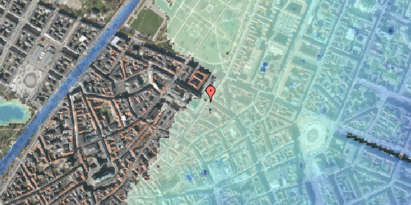 Stomflod og havvand på Møntergade 5, st. th, 1116 København K