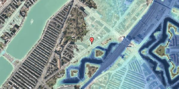 Stomflod og havvand på Hjalmar Brantings Plads 14, 2100 København Ø