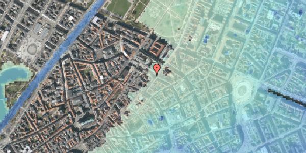 Stomflod og havvand på Pilestræde 51, 1112 København K