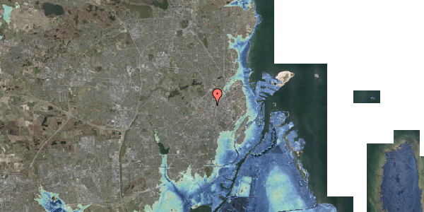 Stomflod og havvand på Lygten 2M, 2400 København NV