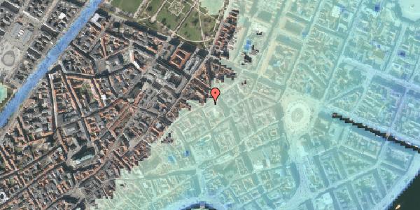 Stomflod og havvand på Sværtegade 6, 1118 København K