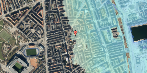 Stomflod og havvand på Viborggade 46, 2100 København Ø
